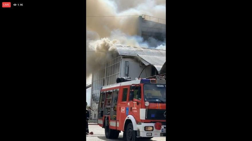 Incendiu la Chişinău