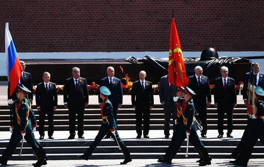 Igor Dodon participă la parada de la Moscova, 24 iunie 2020