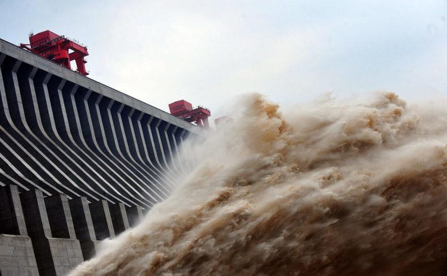 Barajul celor Trei Defiluri, de pe râul Yangtze