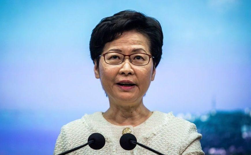 Liderul marionetă din Hong Kong, Carrie Lam