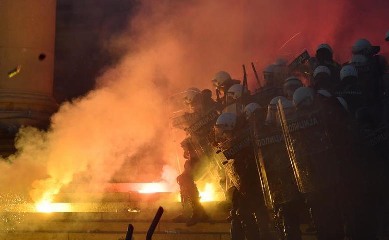 Violenţe la Belgrad