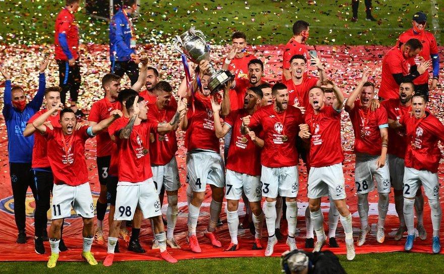 FCSB a câştigat Cupa României la fotbal după ce a învins pe Sepsi OSK cu 1-0.