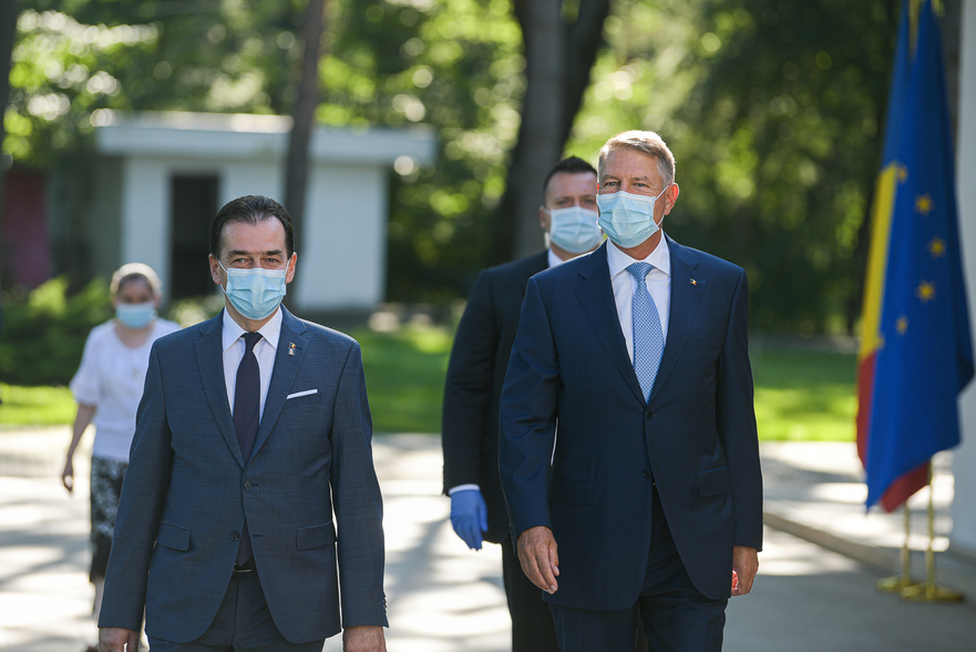 Ludovic Orban si Klaus Iohannis - presidency.ro