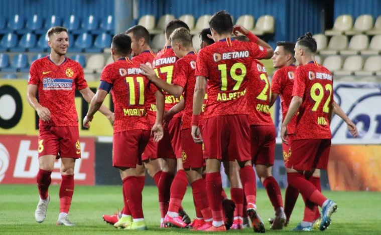 FCSB - Gaz Metan Mediaş 1-0 (1-0),   în etapa a 9-a a fazei   play-off a Ligii I de fotbal.