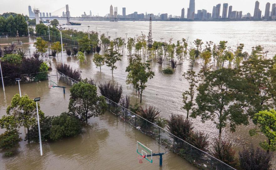 Fluviul Yangtze a inundat oraşul Wuhan, provincia Hubei, 28 iulie 2020