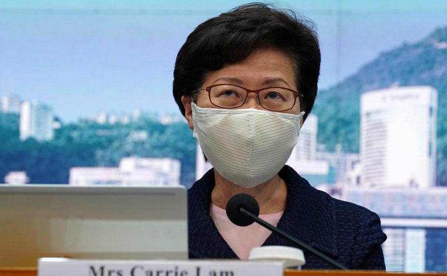 Şeful guvernului-marionetă din Hong Kong, Carrie Lam, 31 iulie 2020.