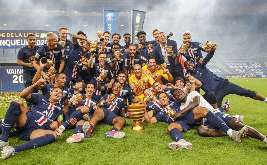 Paris Saint-Germain a cucerit Cupa Ligii franceze la fotbal, după ce a  învins-o în finală pe Olympique Lyon.