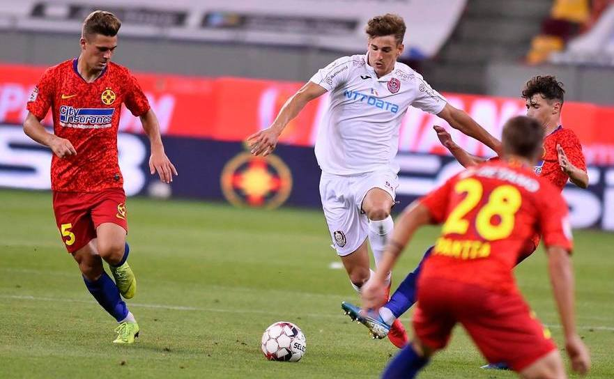 CFR Cluj - FCSB 2-0 (0-0), într-un meci restant din  etapa  a 8-a a fazei play-off.