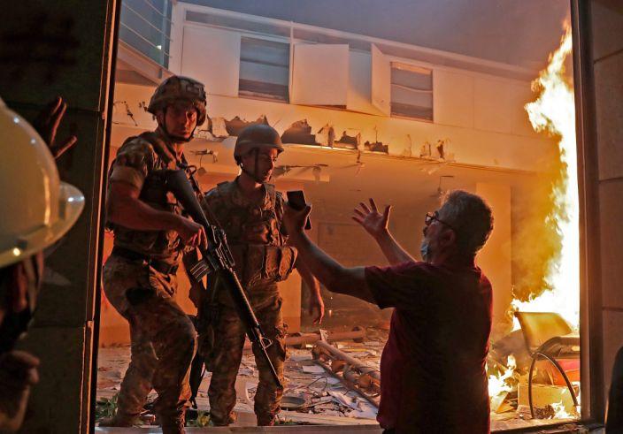 Beirut, august 2020 după explozia care a devastat portul şi numeroase cartiere din oraş