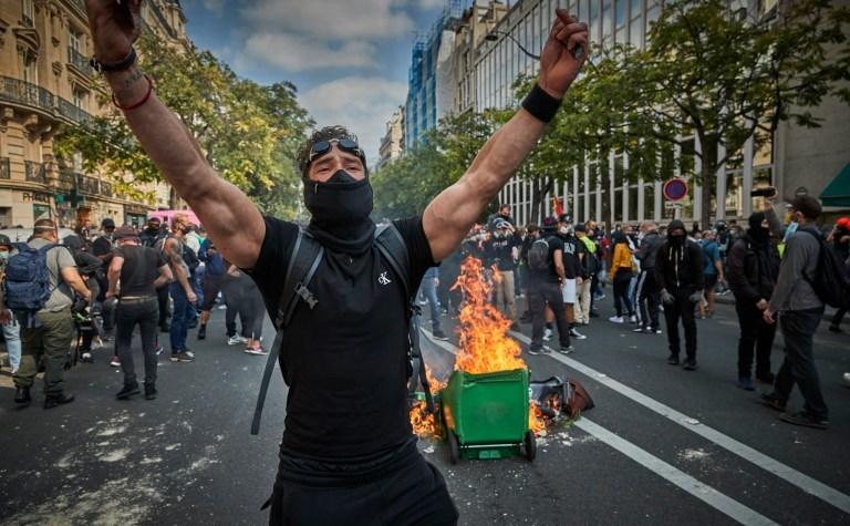 Noi proteste ale Vestelor Galbene în Paris, 12 septembrie 2020