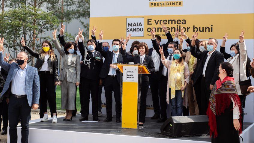 Maia Sandu s-a lansat în campania pentru prezidenţiale