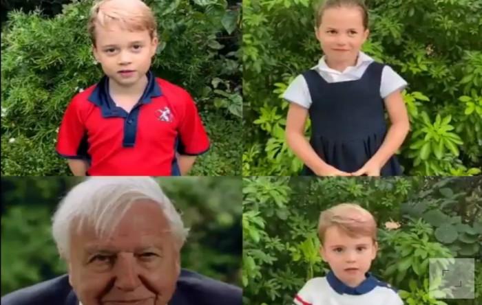 George, Charlotte,                   Sir David Attenborough, Louis