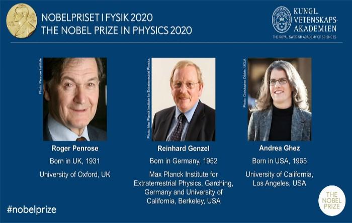 Roger Penrose, Reinhard Genzel şi Andrea Ghez