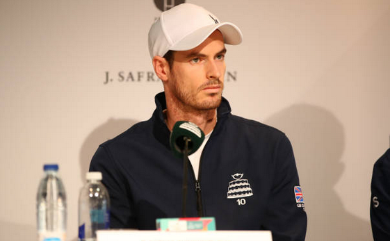 Jucătorul de tenis britanic Andy Murray.