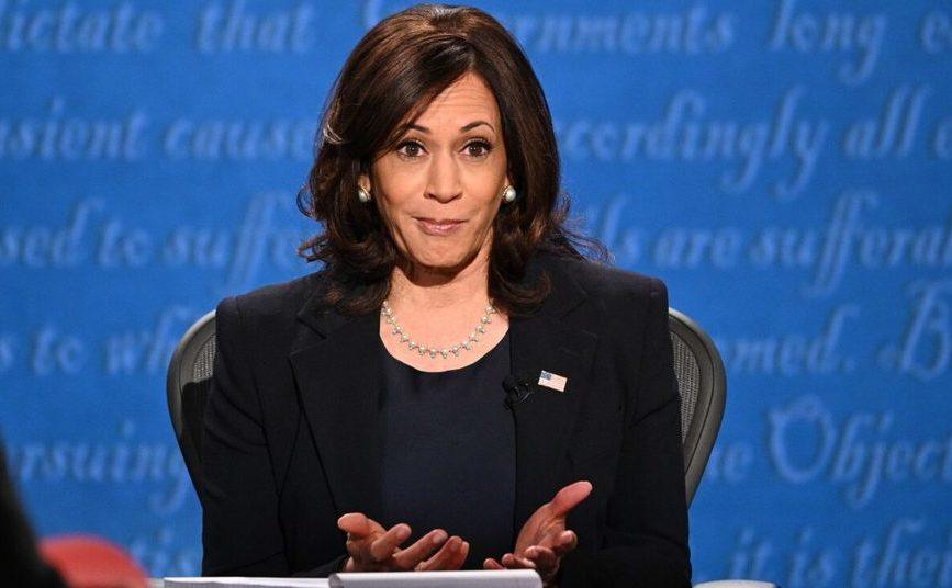 Candidatul la vice-preşedinţia SUA, Kamala Harris, gesticulează în timpul unei dezbateri de campanie - 7 octombrie 2020