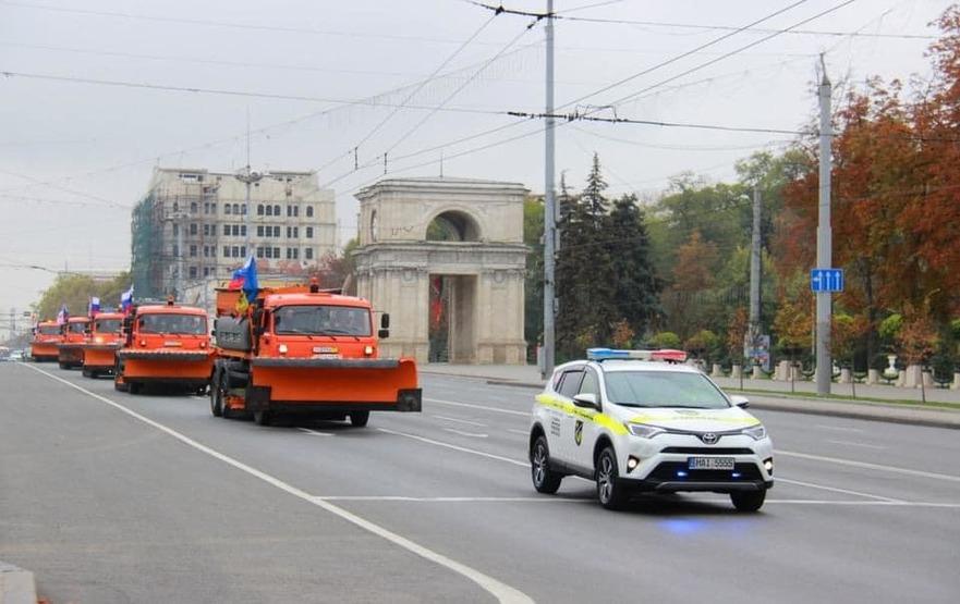 Autospeciale donate de Moscova dedfilează în PMAN din Chişinău