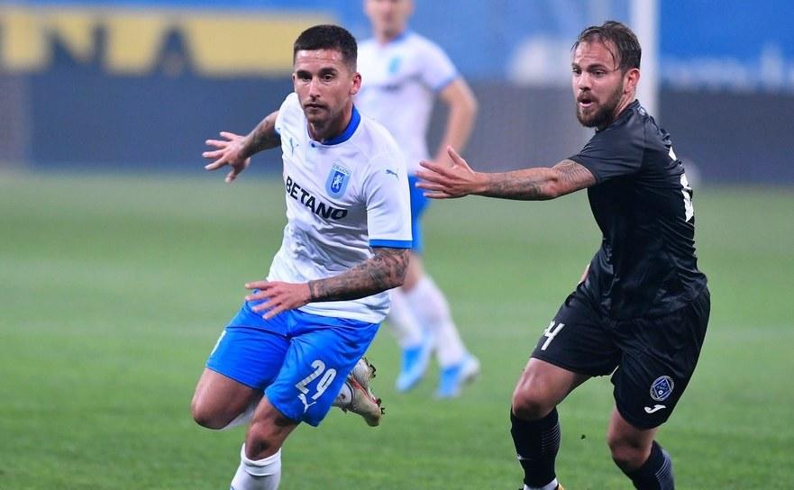 Universitatea Craiova - Academica   Clinceni 1-0, în primul meci din  etapa  a opta.