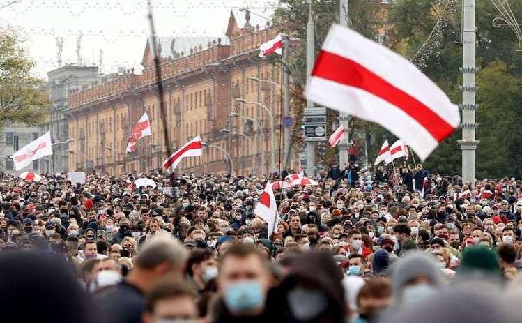 Protestele continuă la Minsk, 23 octombrie 2020