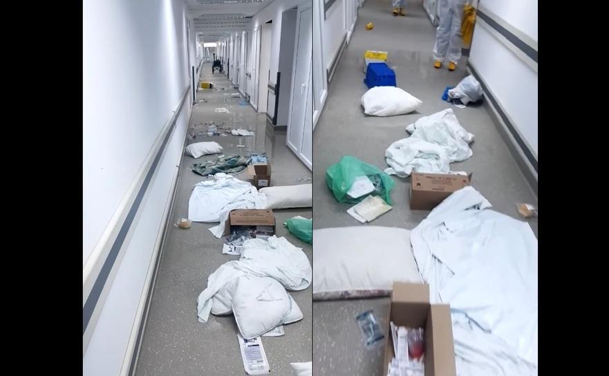 Dezastrul lăsat în urmă de pacientul agresiv