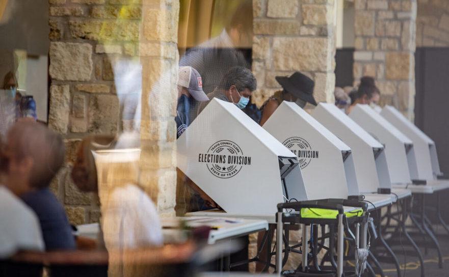 Centru de vot în Austin, Texas, 13 octombrie 2020.