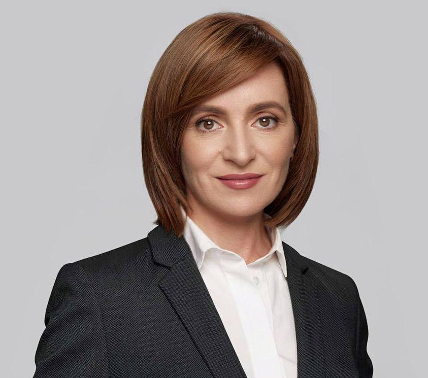 Maia Sandu, preşedintele Republicii Moldova