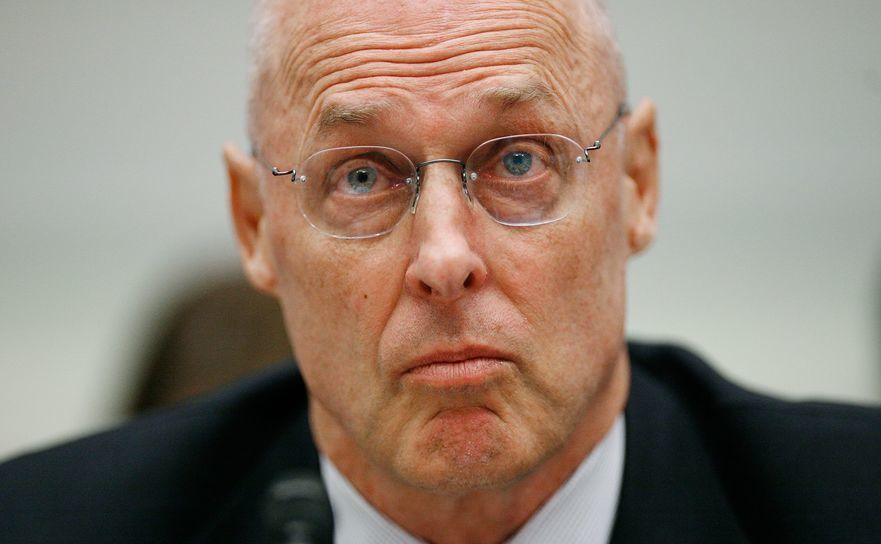Henry Paulson, fostul şef al Trezoreriei SUA pe vremea scandalului Lehman Brothers