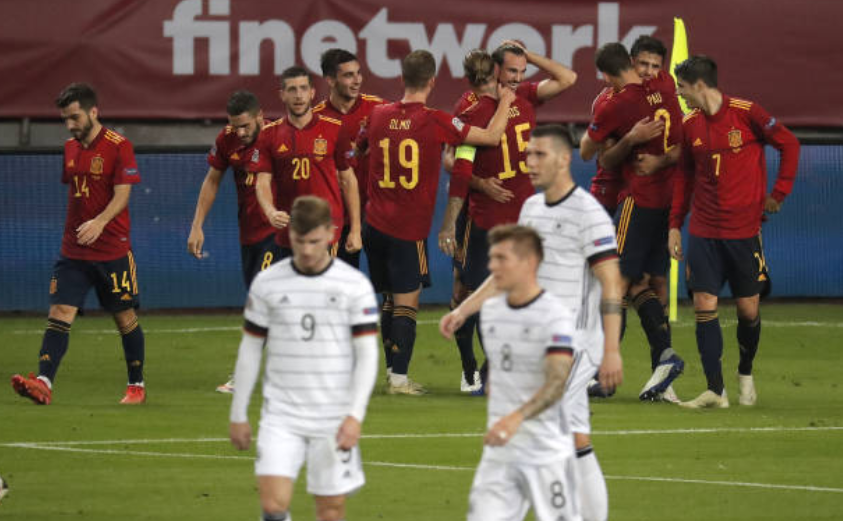 Spania a învins Germania cu scorul de 6-0, succes ce le asigură prezenţa la turneul final al Ligii Naţiunilor la fotbal.