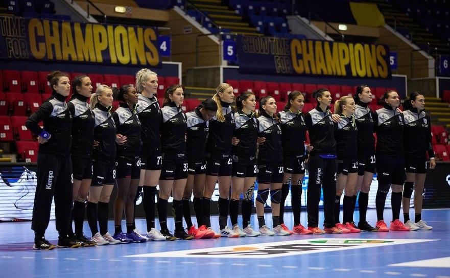 Echipa de handbal feminin CSM Bucureşti.