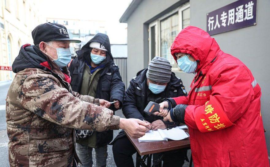 Blocaje stradale impuse în încercarea de a stăvili răspândirea virusului Wuhan, Shenyang, China, 2 ianuarie 2021