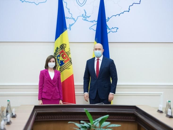 Maia Sandu la intrevedere cu premierul Ucrainei, Denis Shmigal