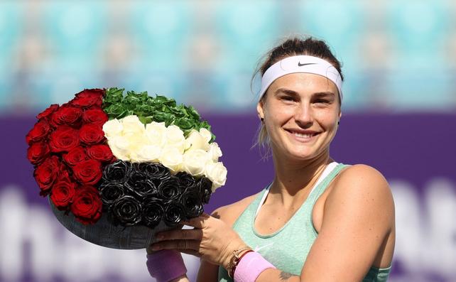 Jucătoarea belarusă de tenis Arina Sabalenka.