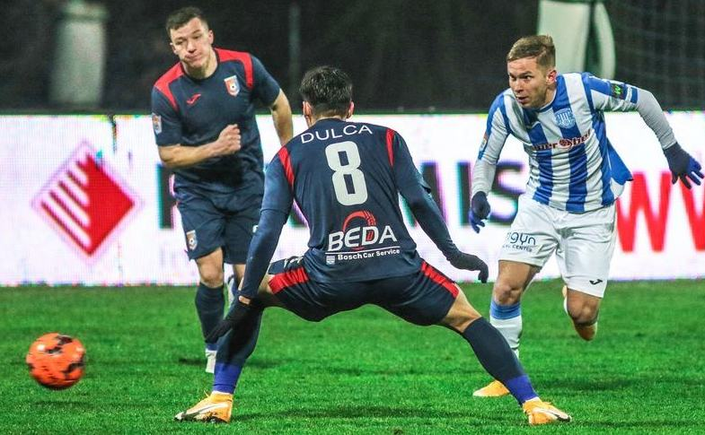 Chindia Târgovişte - Politehnica  Iaşi 1-1 (1-0), în  etapa a 16-a a Ligii I de fotbal.