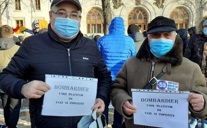 Protest la Galati