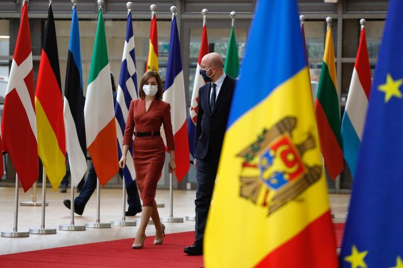 Maia Sandu la Bruxelles, în cadrul intrevederii cuCharles Michel, preşedintele Consiliului European