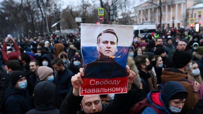 Proteste la Moscova şi în mai multe oraşe din Rusia, în sprijinul liderului opoziţiei, Alexei Navalnîi, 23 ianuarie 2021