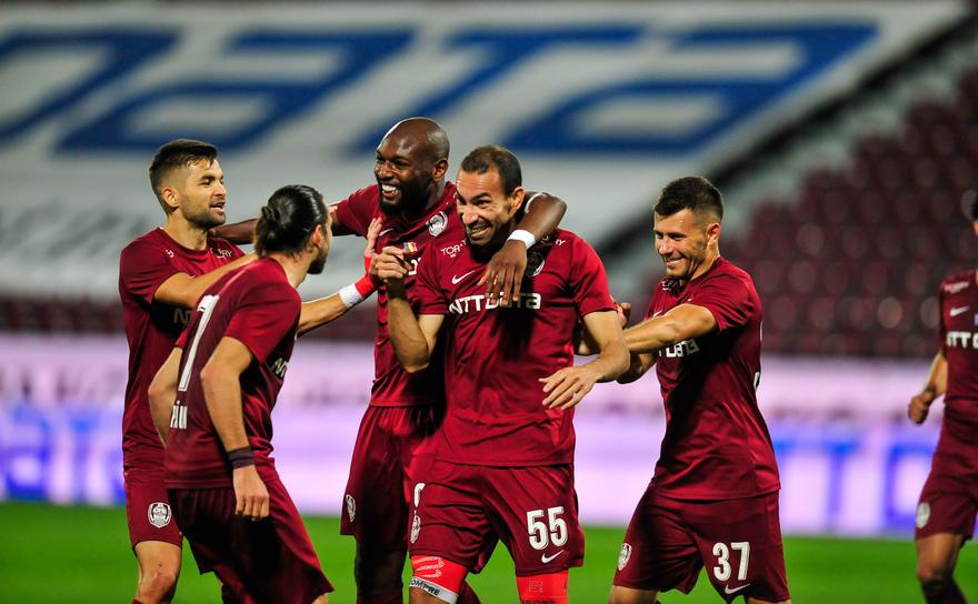 CFR Cluj - FC Hermannstadt 3-1 (1-1), la Mediaş, în etapa a 18-a a Ligii I de fotbal.