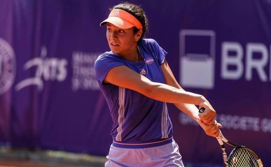 Jucătoarea română de tenis Miriam Bulgaru.