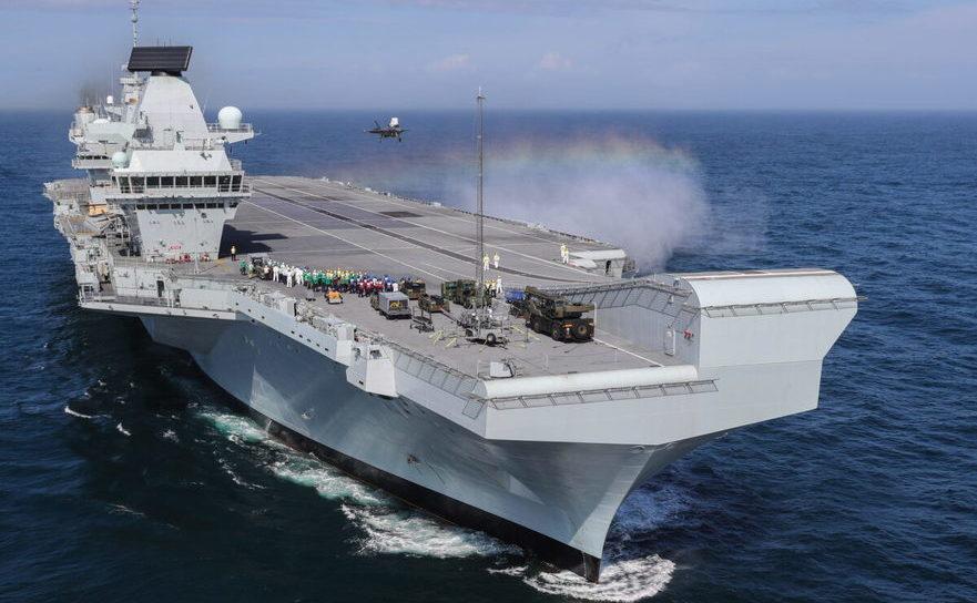 HMS Queen Elizabeth, 26 septembrie 2018 în Portsmouth, Marea Britanie