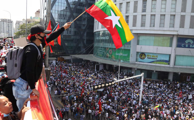 Proteste împotriva puciului militar în Birmania