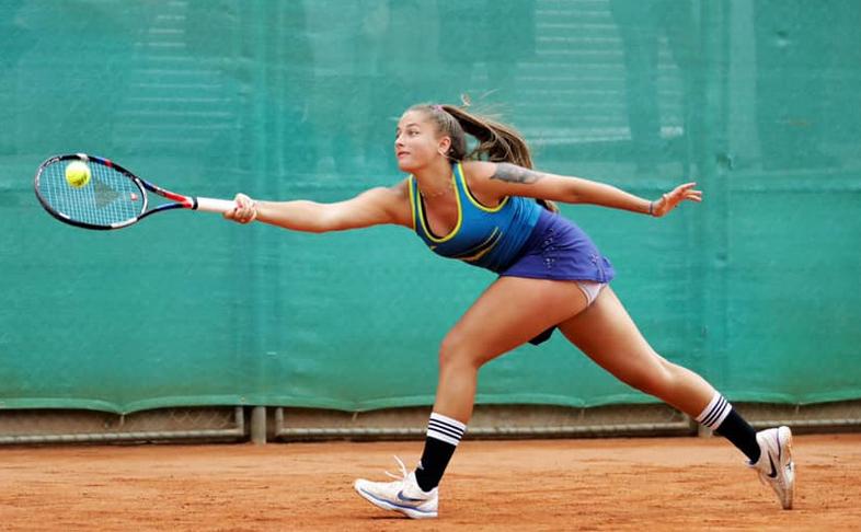 Jucătoarea română de tenis Andreea Prisacariu.