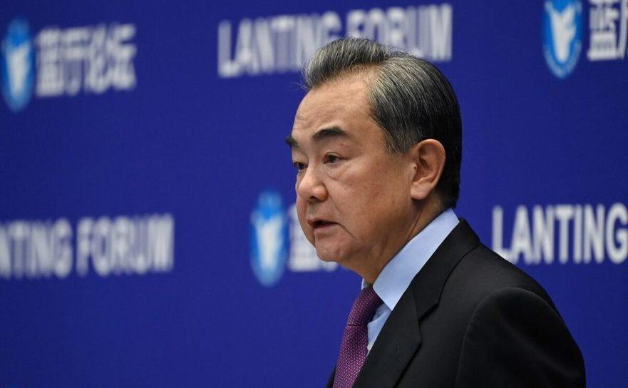 Ministrul chinez de Externe, Wang Yi vorbind la conferinţa Lanting Forum despre relaţiile sino-americane, Beijing, China 22 februarie 2021