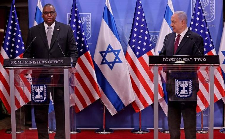 Conferinţă de presă, Benjamin Netanyahu şi Lloyd Austin la Ierusalim