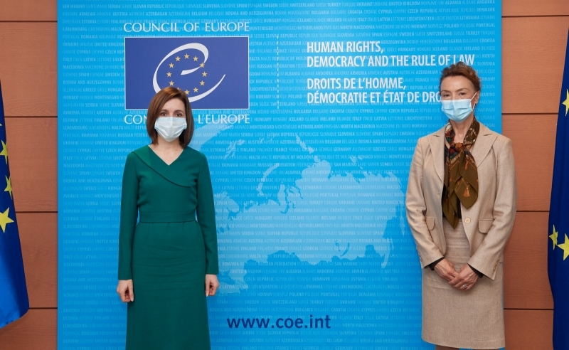 Maia Sandu şi Marija Pejčinović Burić