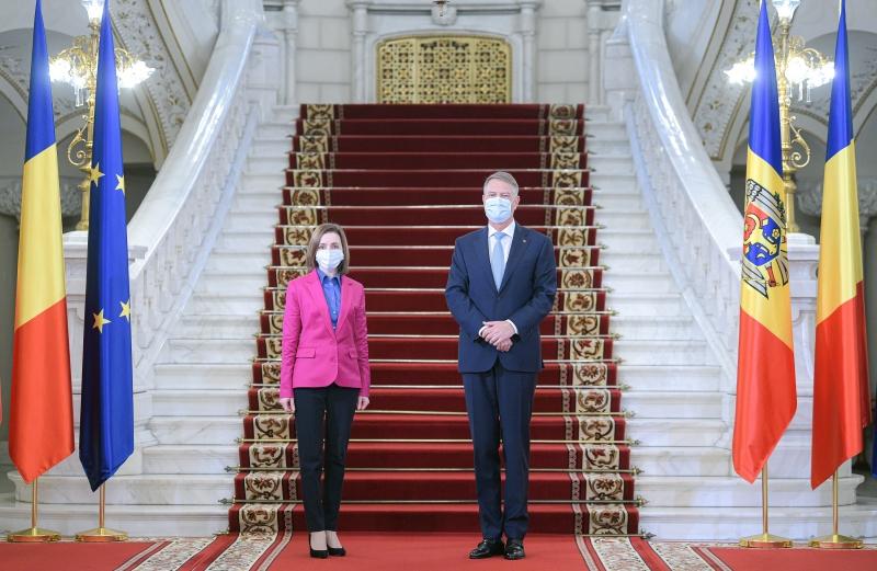 Maia Sandu şi Klaus Iohannis, la Bucureşti