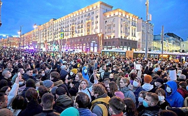 Proteste în Rusia în sprijinul lui Navalnîi