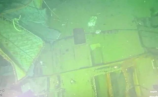 Submarinul indonezian observat de un submersibil de cercetare