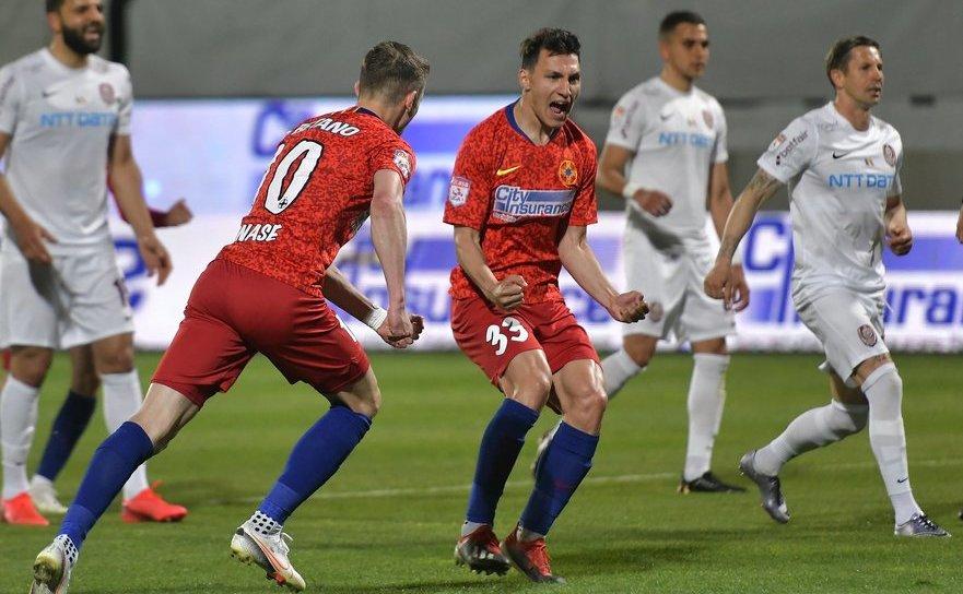 FCSB -  CFR Cluj 1-1 (1-0), în etapa a cincea a  fazei play-off a Ligii I de fotbal.