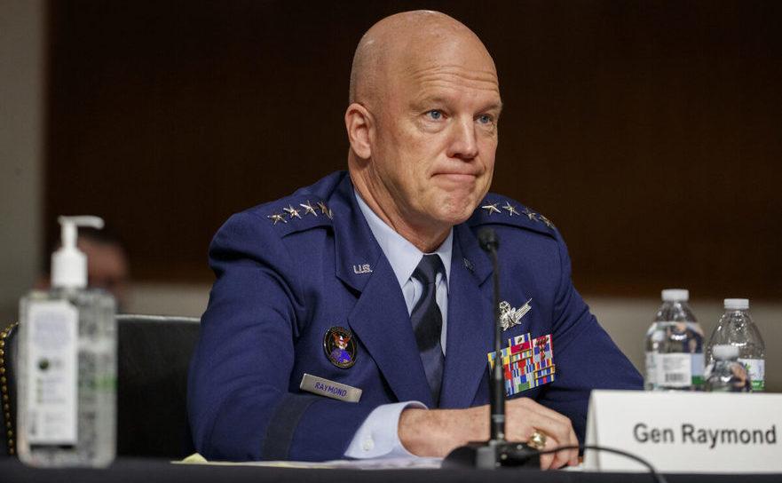 Şeful U.S. Space Force, generalul John W. Raymond, la o audiere în Congres, 6 mai 2020