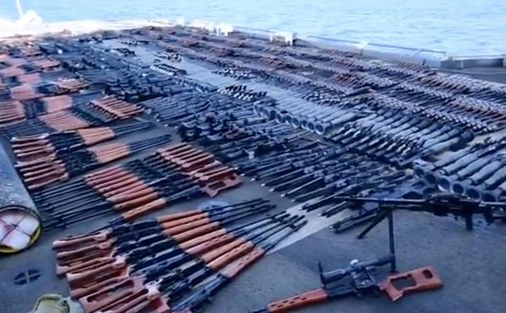 Captură masivă de arme pe USS Monterey