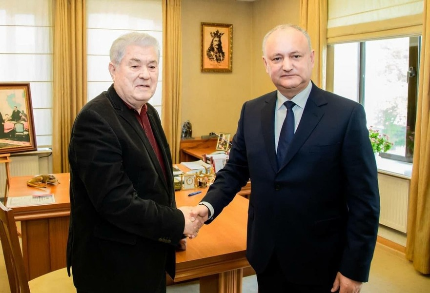 Vladimir Voronin şi Igor Dodon